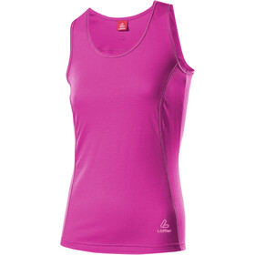 Löffler Transtex Single T-shirt zippé Femme, berry